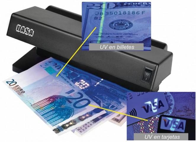 detector billetes dasa db6w